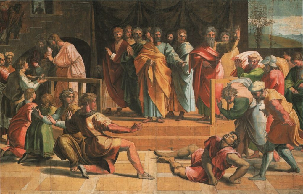 rafael_death of ananias